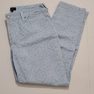 NYDJ jeans Light blue paisley print size 12